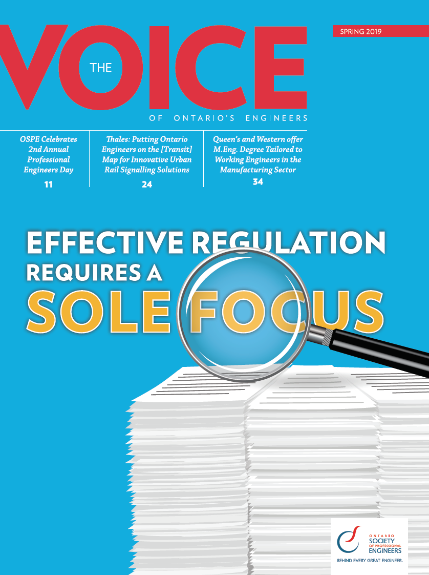 Ontario Society of Professional Engineers The Voice Magazine